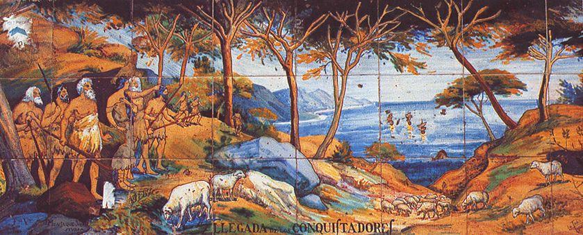 Прибытие конкистадоров на Тенерифе